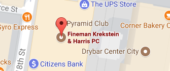 Fineman Logo map